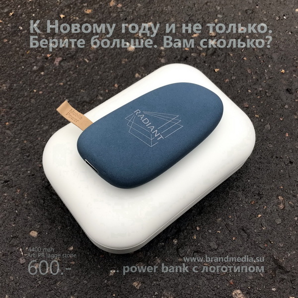 Зарядка power bank с логотипом Radiant