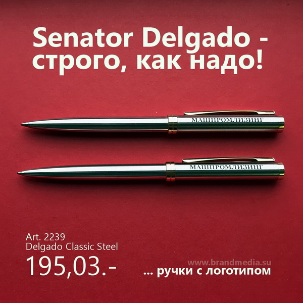 Шариковые ручки металл Senator Delgado