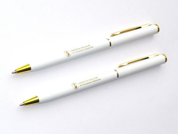 Белые промо ручки для Министерства сельского хозяйства РФ