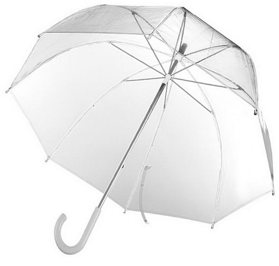 Прозрачные зонты с логотипом компании