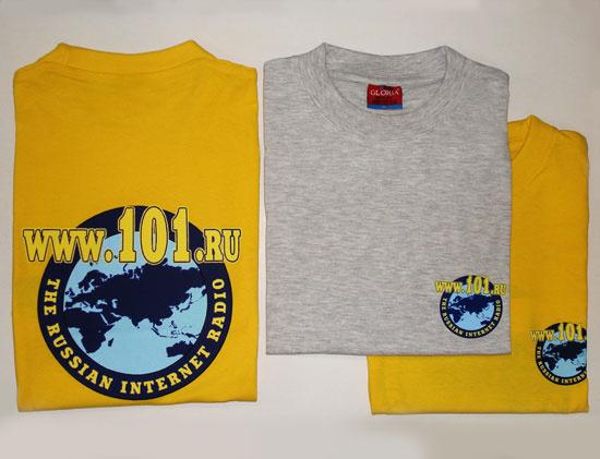 Футболки с логотипом Радио 101