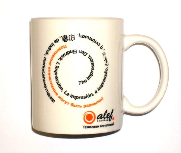 Кружки с логотипом Alef Trading