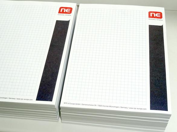 Блокноты с логотипом заказчика для компании IHR