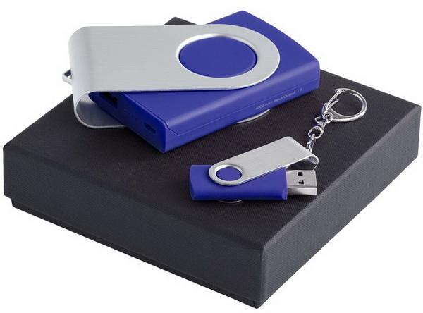 Подарочный набор с usb флешкой и зарядным устройством