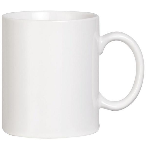 Белые промо кружки для нанесения логотипа компании дёшево