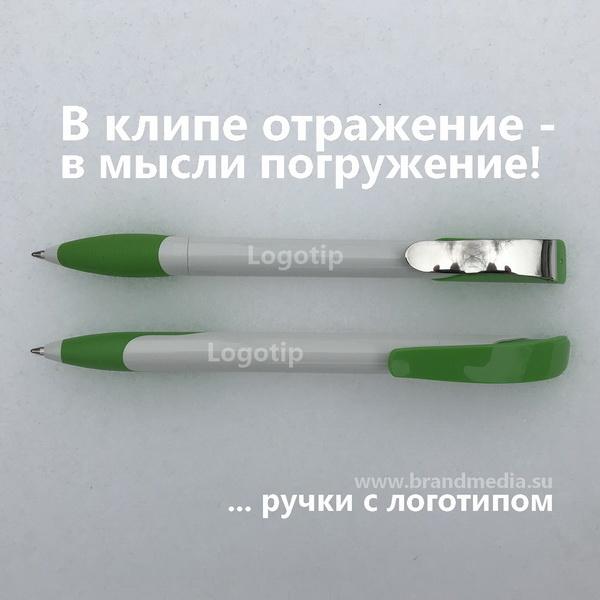 Зеленые ручки с логотипом компании