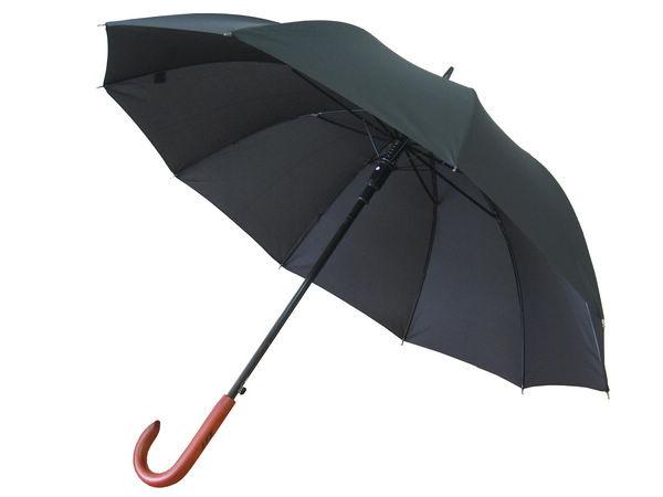 Черные классические зонты - трости для нанесения логотипа компании