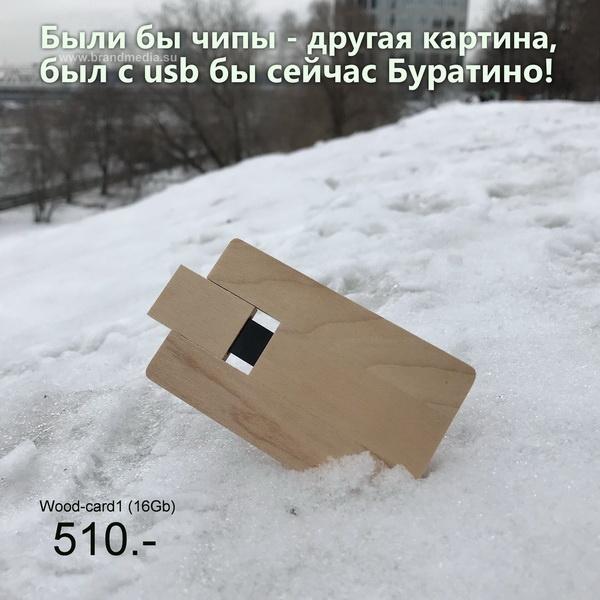Купить деревянные флешки от 100 шт со склада в Москве.