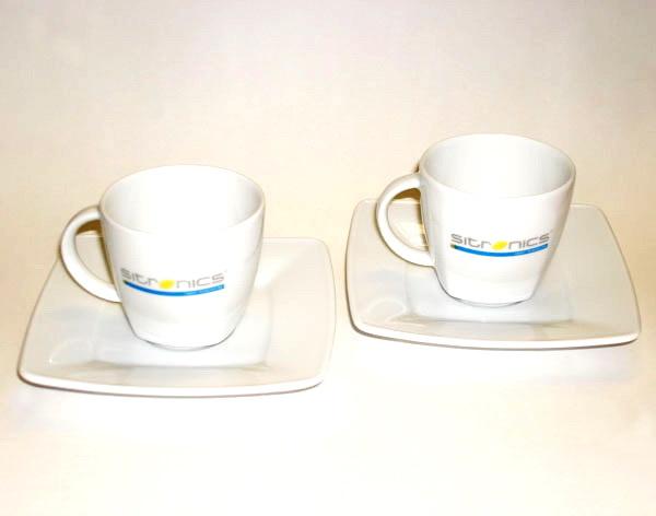Чашки с блюдцем для компании Ситроникс
