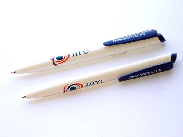 Белые ручки Senator Dart с логотипом компании