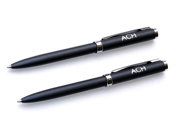 Шариковые ручки Senator Delgado Chrome с логотипом АСН
