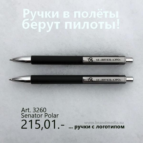 Черные шариковые ручки Senator Polar