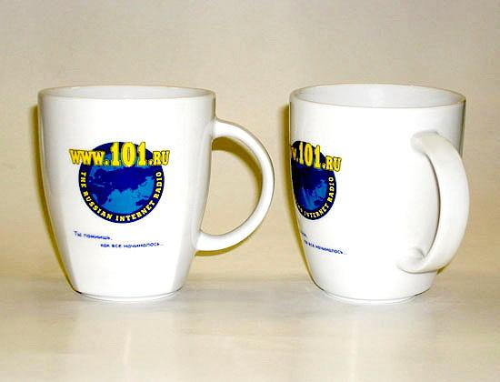 Кружки с логотипом Интернет радио 101