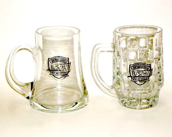 Пивные стеклянные кружки с логотипом