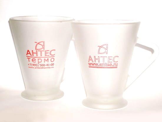 Кружки стеклянные Сенатор с логотипом Антес Термо