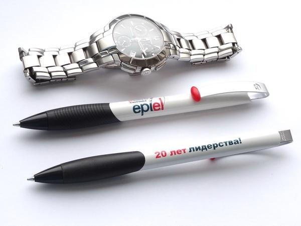 Шариковые ручки Senator Matrix Polished с логотипом компании