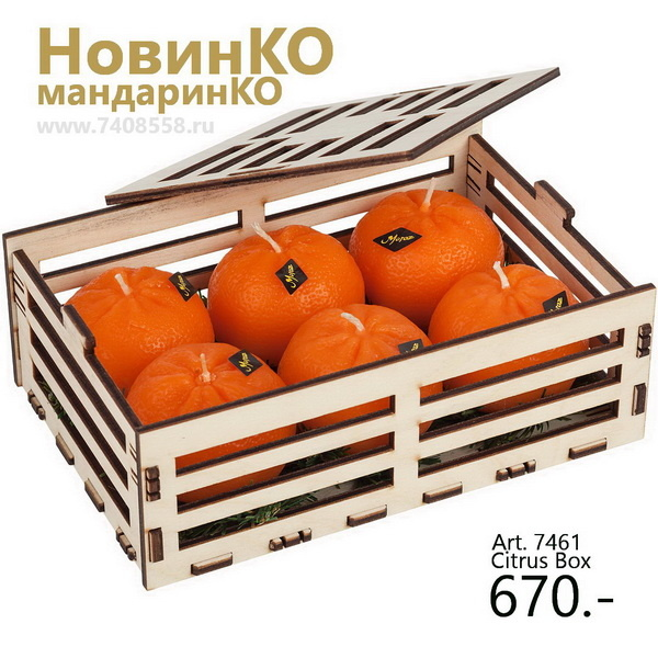 Ящик мандаринов с логотипом