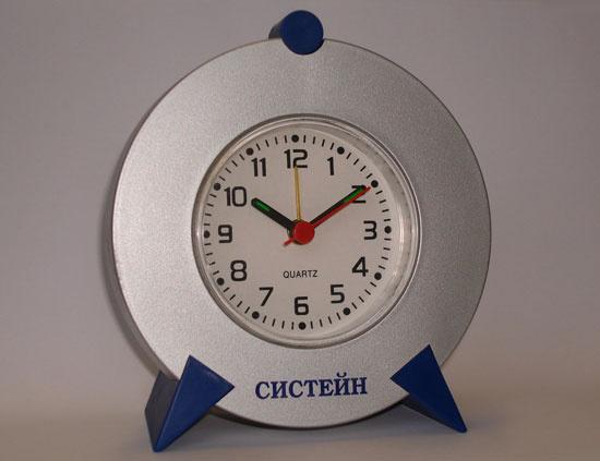 Настольные часы с логотипом компании
