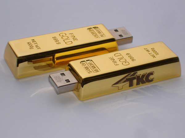 Флэшка унция золота с логотипом ТКС