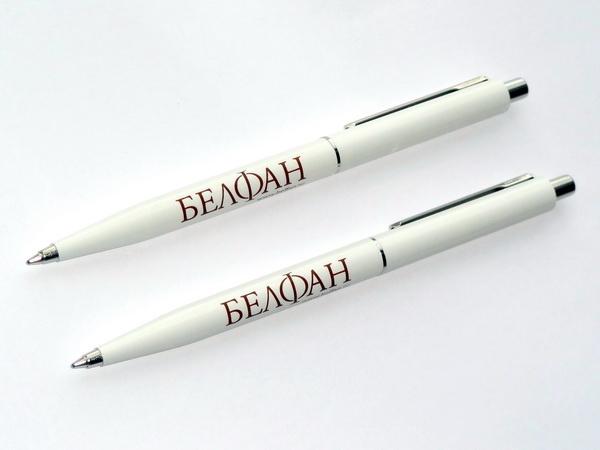 Ручки Senator к Новому году с логотипом компании Белфан