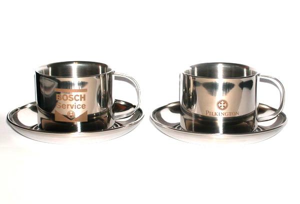 Кружки кофейные металлические с логотипом