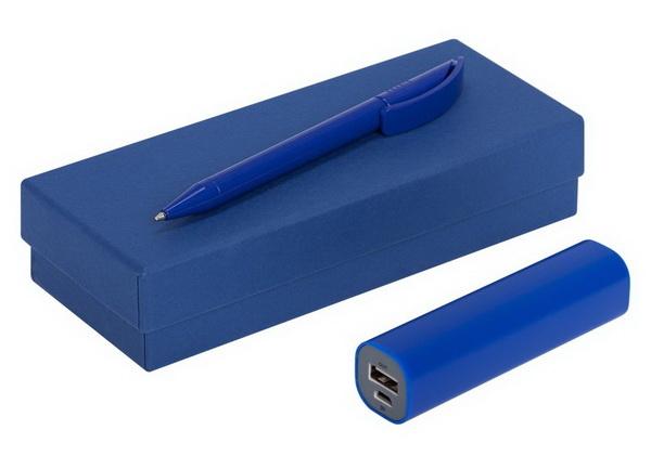 Ручка и зарядка в подарочной коробке с логотипом компании - заказчика.
