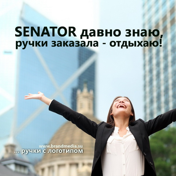 Ручки Сенатор с логотипом