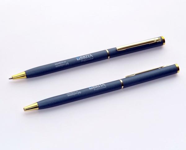 Тонкие металлические ручки с логотипом Brita