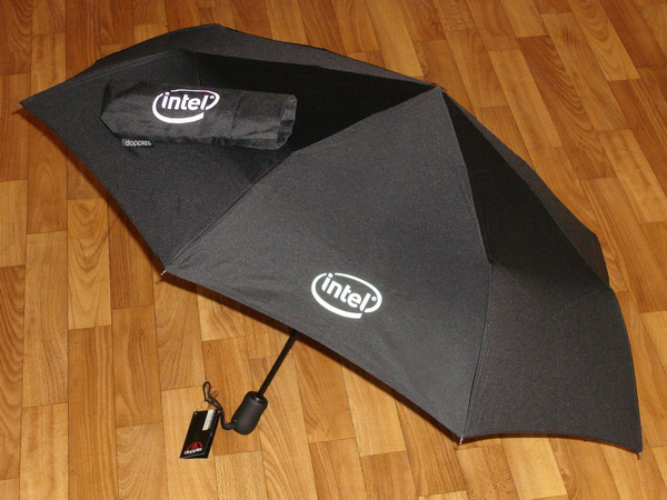 Зонты с логотипом Intel
