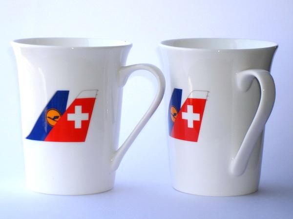 Кружки Lufthansa и Swiss
