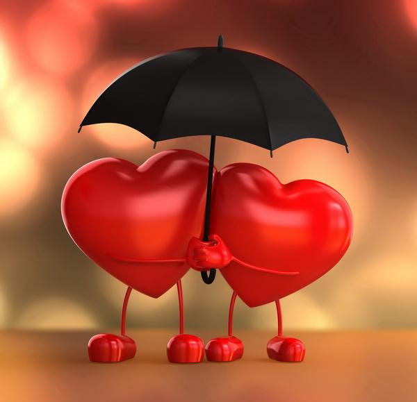 Зонты к Дню Святого Валентина