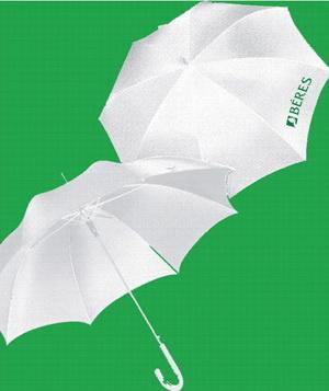Белые зонты с логотипом для медицинских компаний
