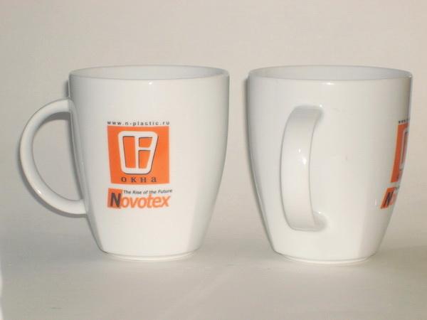 Кружки с логотипом компании Novotex