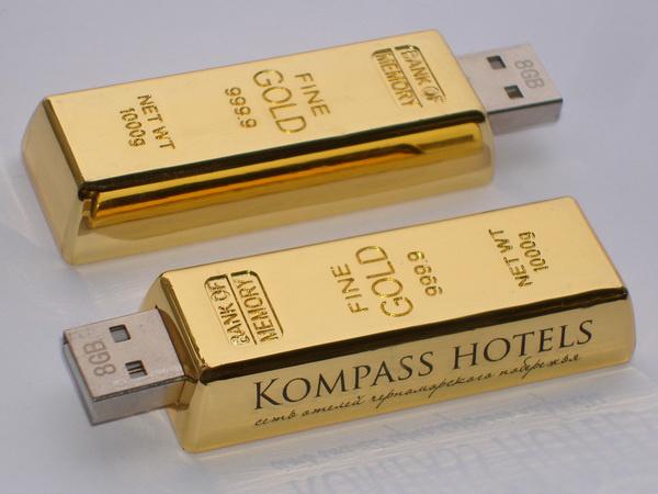 Флешки под слитки золота Kompass Hotels