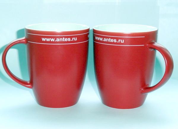 Кружки красные Senator Elite с логотипом Антес