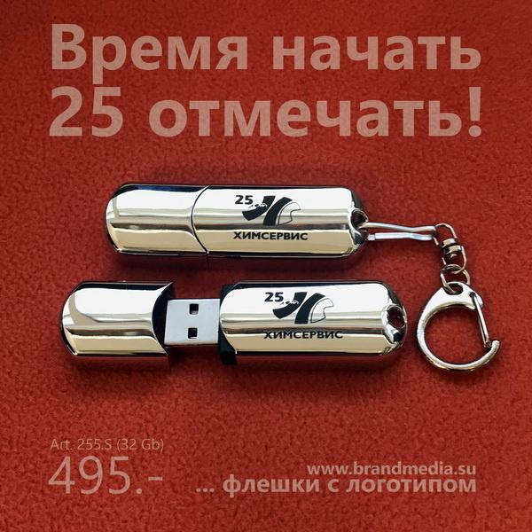 Металлические флешки 255.S с логотипом Химсервис 25