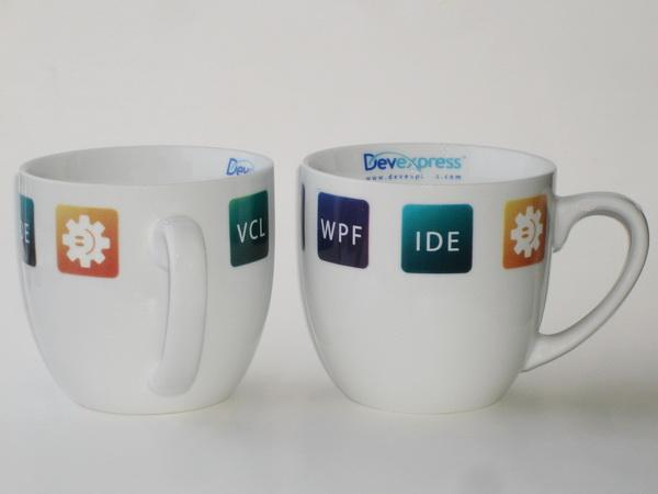 Кружки керамические Senator с логотипом Devexpress