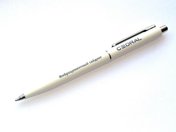 Белые ручки Senator Point для строительных компаний с логотипом
