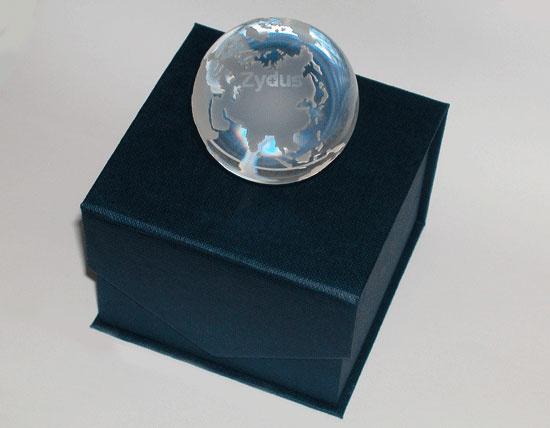 Глобус с логотипом